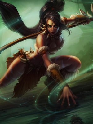 Nidalee Chasseresse bestiale perruque De League of Legends